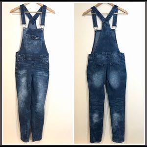 Blue Spice Denim Overalls Jeans Distressed Jrs 5
